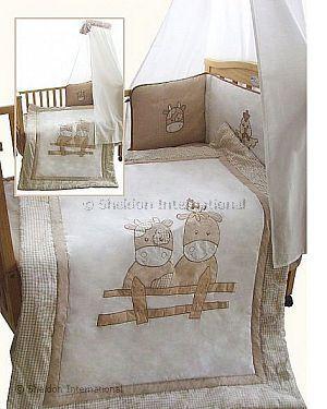 3 teiliges baby bettw sche set kuh gro handel. Black Bedroom Furniture Sets. Home Design Ideas