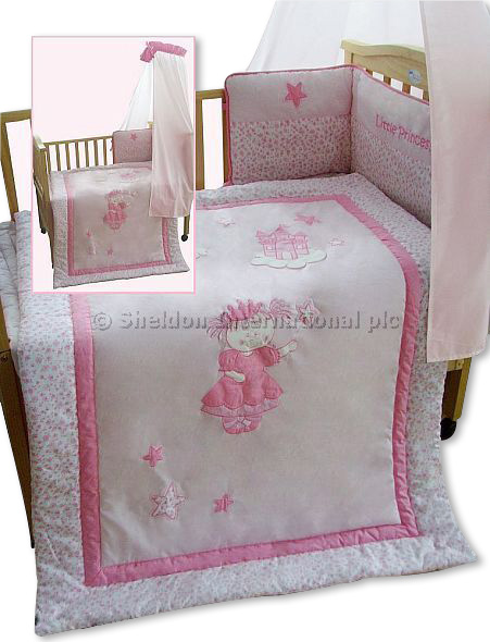 3 teiliges baby bettw sche set prinzessin gro handel. Black Bedroom Furniture Sets. Home Design Ideas