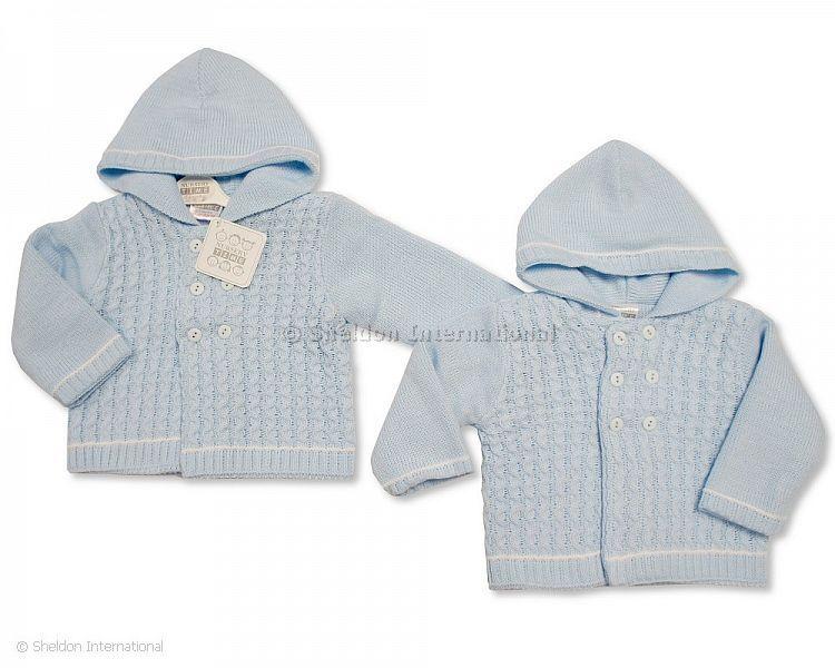 Baby Jungen Kinderwagen-Strickjacke - 646 - Großhandel