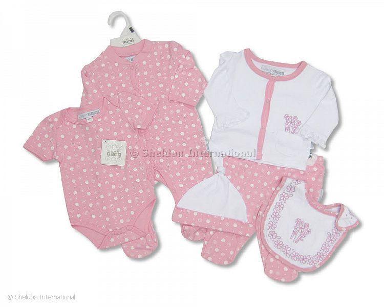 baby baumwoll 6 teiler m dchen gro handel. Black Bedroom Furniture Sets. Home Design Ideas